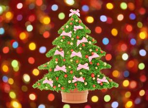 クリスマスツリーとイルミネーションの写真素材 [FYI04731324]