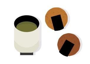 お煎餅とお茶 イラストのイラスト素材 [FYI04731365]