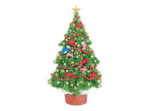 赤いリボンのクリスマスツリーの写真素材 [FYI04731367]