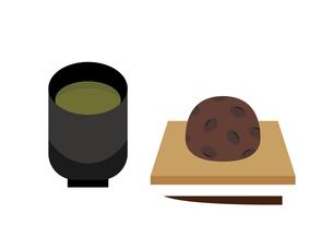 おはぎとお茶 イラストのイラスト素材 [FYI04731508]