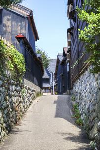 岐阜川原町古い町並み風景の写真素材 [FYI04731879]