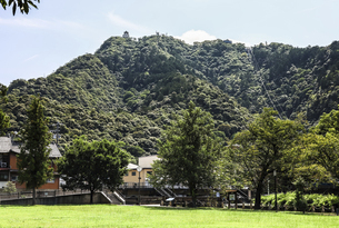 金華山頂上に見る岐阜城の写真素材 [FYI04731883]