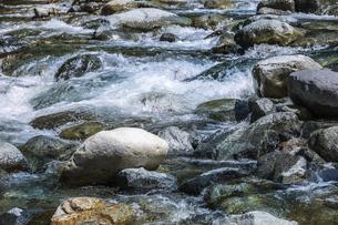 渓谷の流水の写真素材 [FYI04731894]
