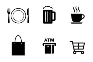 食事や買い物などのアイコンのイラスト素材 [FYI04731900]