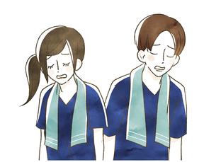 スポーツ観戦-応援-肩を落とすのイラスト素材 [FYI04732155]