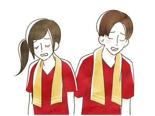 スポーツ観戦-応援-肩を落とすのイラスト素材 [FYI04732156]