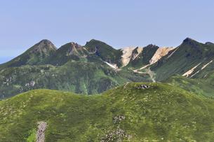 サシルイ岳から見た硫黄山(北海道・知床)の写真素材 [FYI04732162]