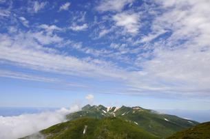 サシルイ岳から見た硫黄山(北海道・知床)の写真素材 [FYI04732172]