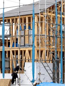 木造住宅の建設の写真素材 [FYI04732389]