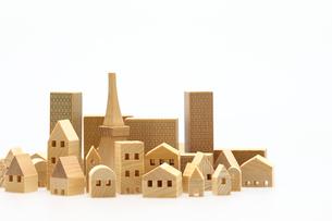 家とビルのミニチュア模型の写真素材 [FYI04732482]