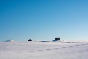 雪原と青空の写真素材 [FYI04732543]