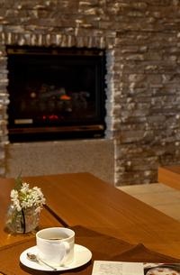 暖炉のある部屋の写真素材 [FYI04732601]