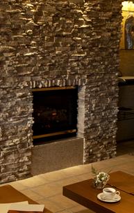 暖炉のある部屋の写真素材 [FYI04732604]