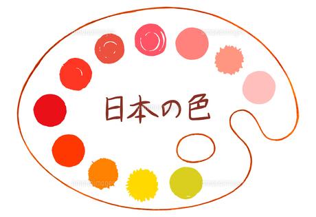 パレットに描かれた赤い色の水玉素材【セット】のイラスト素材 [FYI04732792]
