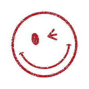 スタンプ風スマイルマーク イラストアイコン (スマイル/笑顔)のイラスト素材 [FYI04732907]