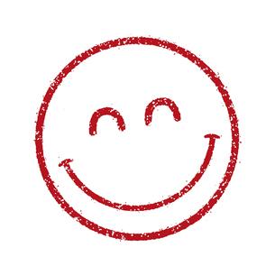 スタンプ風スマイルマーク イラストアイコン (スマイル/笑顔)のイラスト素材 [FYI04732909]