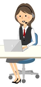 コールセンター 制服姿の女性 のイラスト素材 [FYI04733544]