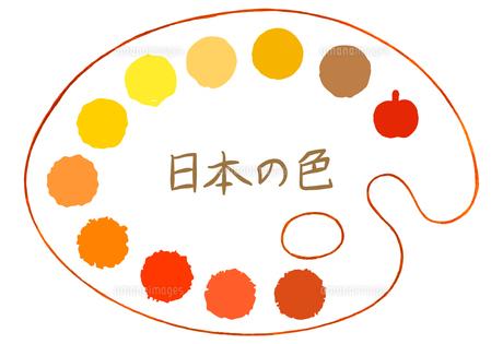 パレットに描かれた黄色の水玉素材【セット】のイラスト素材 [FYI04734355]