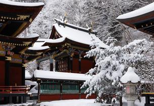 雪の三峯神社 本殿の写真素材 [FYI04734655]
