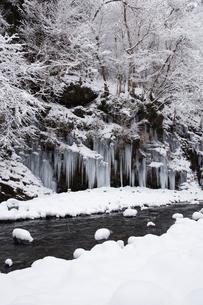 三十槌の氷柱の雪景色の写真素材 [FYI04734662]