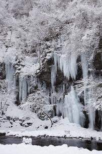 三十槌の氷柱の雪景色の写真素材 [FYI04734666]