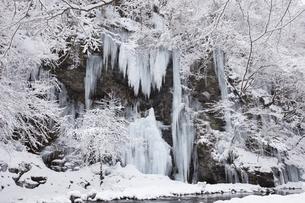 三十槌の氷柱の雪景色の写真素材 [FYI04734667]