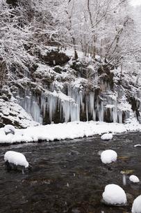 三十槌の氷柱の雪景色の写真素材 [FYI04734669]