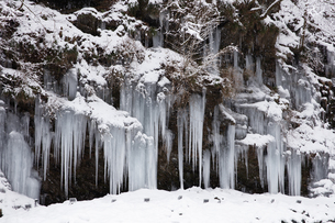 三十槌の氷柱の雪景色の写真素材 [FYI04734673]
