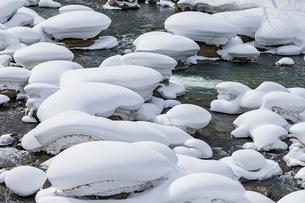 石狩川の真冬の光景の写真素材 [FYI04734700]