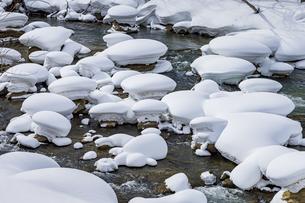 石狩川の真冬の光景の写真素材 [FYI04734702]