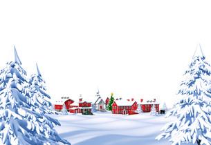 クリスマスの町 昼 白バックのイラスト素材 [FYI04735540]