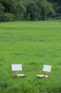 草原と椅子の写真素材 [FYI04735679]