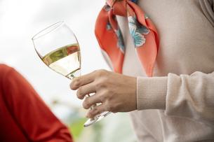 ワインを飲むカップルの写真素材 [FYI04735708]