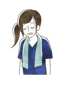 スポーツ観戦-肩を落とす女性のイラスト素材 [FYI04736108]
