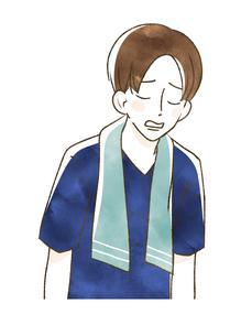 スポーツ観戦-肩を落とす男性のイラスト素材 [FYI04736109]