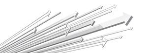 矢印が様々に上昇する白いバックグラウンドのイラスト素材 [FYI04736385]