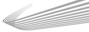 帯状の矢印がターンして上昇する白いバックグラウンドのイラスト素材 [FYI04736386]