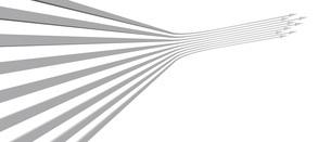 帯状の矢印が上昇する白いバックグラウンドのイラスト素材 [FYI04736388]