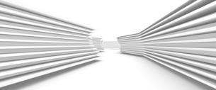 抽象的な構造物の白いバックグラウンドのイラスト素材 [FYI04736398]