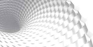 抽象的な波をねじった白いバックグラウンドのイラスト素材 [FYI04736400]
