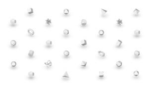 抽象的な幾何学形状の白いバックグラウンドのイラスト素材 [FYI04736406]