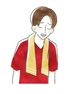 スポーツ観戦-肩を落とす男性のイラスト素材 [FYI04736494]