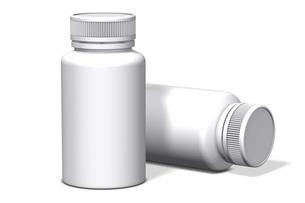 白バックの薬の容器_2のイラスト素材 [FYI04736553]