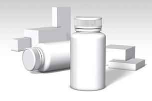 白バックの薬の容器_3のイラスト素材 [FYI04736554]