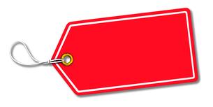赤い値札のイラスト素材 [FYI04736565]
