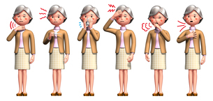 aaおばあちゃんコロナ症状6種類.jpg のイラスト素材 [FYI04736581]