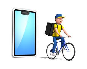 自転車デリバリー1のイラスト素材 [FYI04736706]