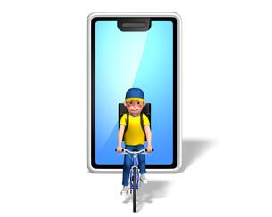 自転車デリバリー3のイラスト素材 [FYI04736708]