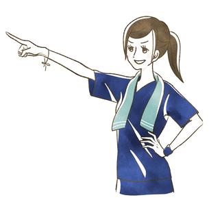 指さす女性-スポーツのイラスト素材 [FYI04736888]