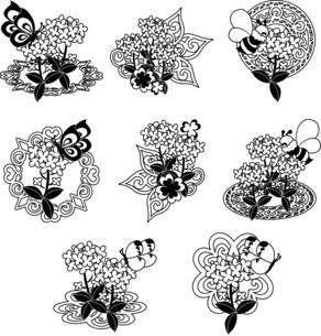 綺麗な菜の花のアイコンのイラスト素材 [FYI04736916]